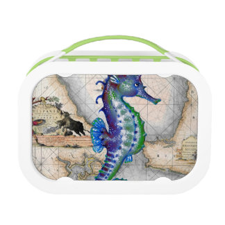 Seahorse Map Gibraltar Lunch Box