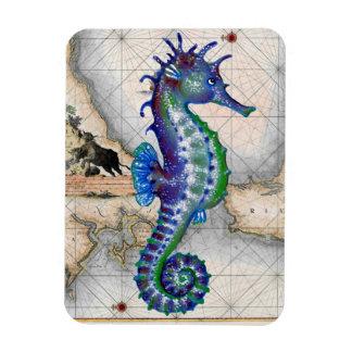 Seahorse Map Gibraltar Magnet