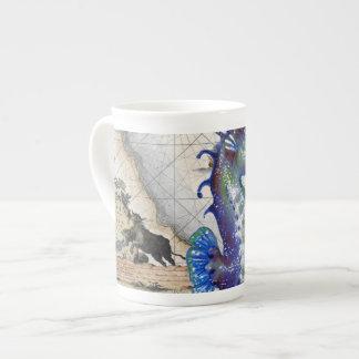 Seahorse Map Gibraltar Tea Cup