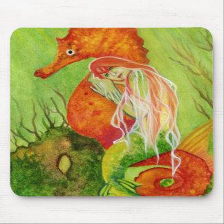 Seahorse mermaid fantasy Mousepad