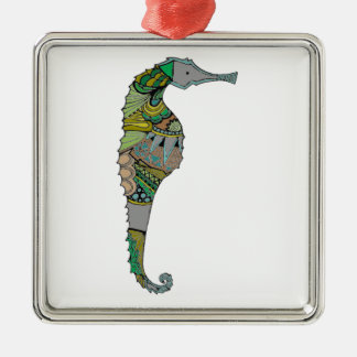 Seahorse Metal Ornament