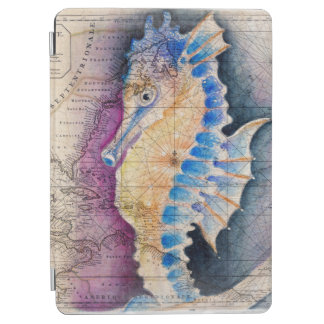 Seahorse old map iPad air cover