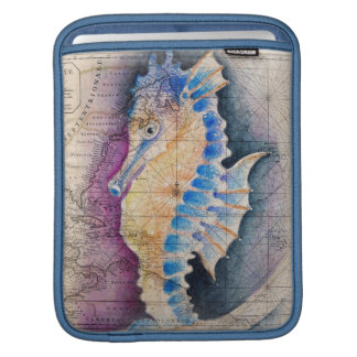 Seahorse old map iPad sleeve