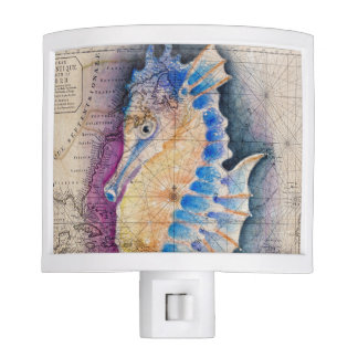 Seahorse old map night lites