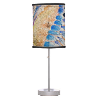 Seahorse old map table lamp
