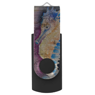 Seahorse old map USB flash drive
