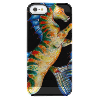 seahorse on black clear iPhone SE/5/5s case