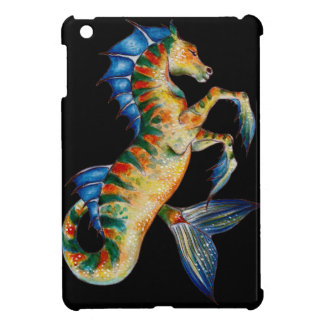 seahorse on black cover for the iPad mini