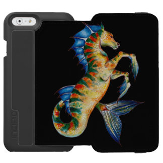 seahorse on black incipio watson™ iPhone 6 wallet case