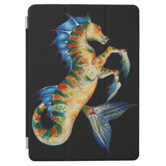 seahorse on black iPad air cover