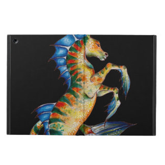 seahorse on black iPad air cover