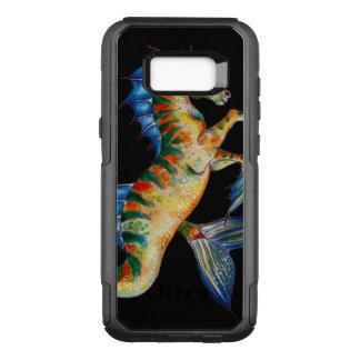 seahorse on black OtterBox commuter samsung galaxy s8+ case