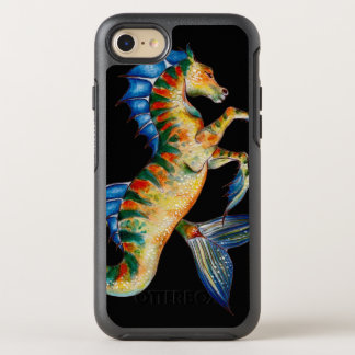 seahorse on black OtterBox symmetry iPhone 8/7 case