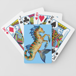 Seahorse On Blue Bicycle Playing Cards