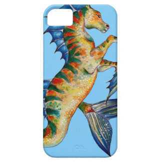 Seahorse On Blue Case For The iPhone 5