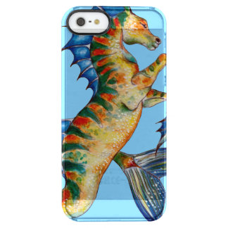 Seahorse On Blue Clear iPhone SE/5/5s Case