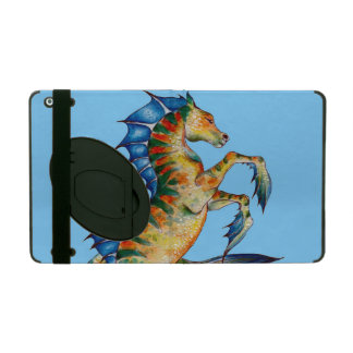 Seahorse On Blue iPad Folio Case