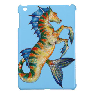 Seahorse On Blue iPad Mini Case