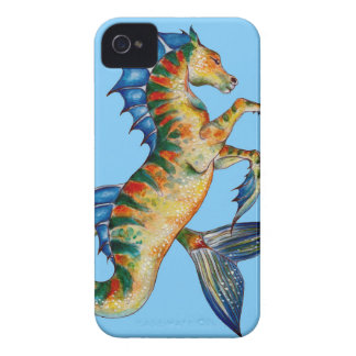 Seahorse On Blue iPhone 4 Case-Mate Case
