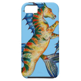 Seahorse On Blue iPhone 5 Case