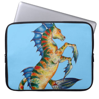 Seahorse On Blue Laptop Sleeve