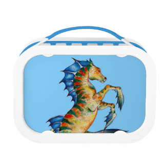 Seahorse On Blue Lunchboxes