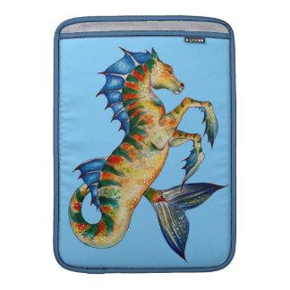 Seahorse On Blue MacBook Sleeves
