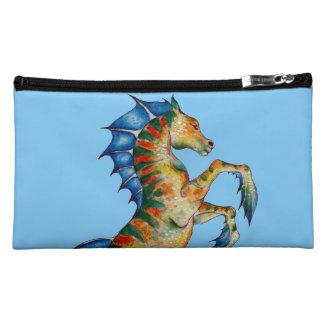 Seahorse On Blue Makeup Bag