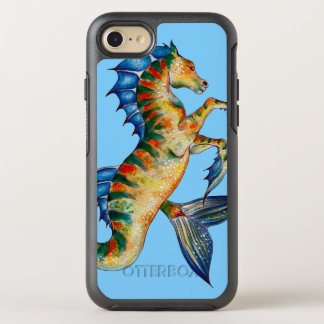 Seahorse On Blue OtterBox Symmetry iPhone 8/7 Case