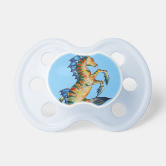 Seahorse On Blue Pacifier