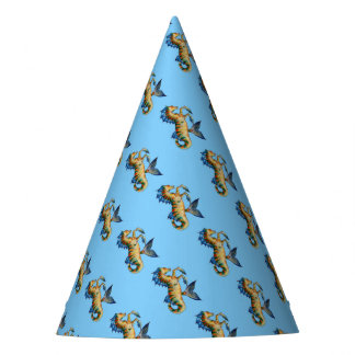Seahorse On Blue Party Hat