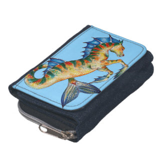 Seahorse On Blue Wallets