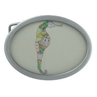 Seahorse Oval Belt Buckles
