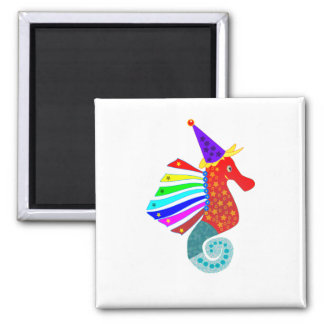 seahorse party zone magnet