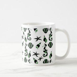 Seahorse pattern coffee mug