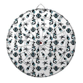 Seahorse pattern dartboards