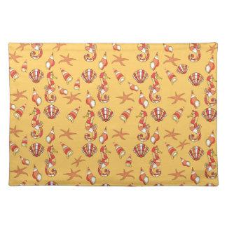 Seahorse pattern placemat