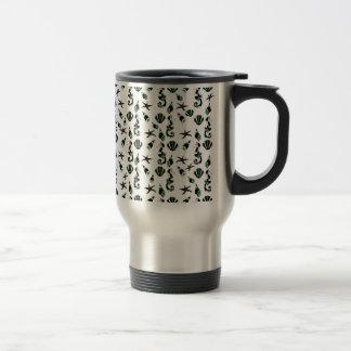 Seahorse pattern travel mug