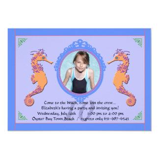 Seahorse Photo Invitation