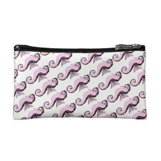 seahorse pink makeup bag