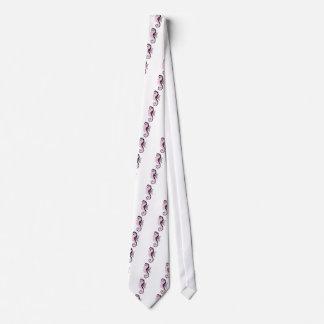seahorse pink tie