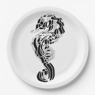 Seahorse Plate 9 Inch Paper Plate