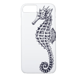 Seahorse Portrait on White Case-Mate iPhone Case
