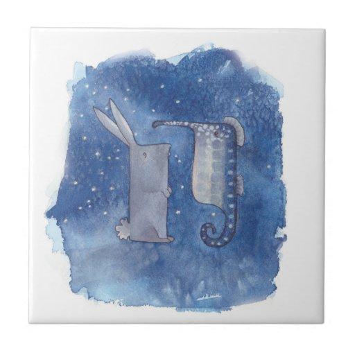 Seahorse & Rabbit Tile