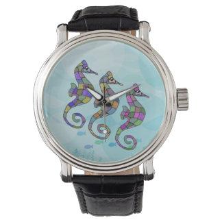 Seahorse Rainbow Wristwatches