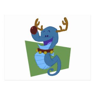 Seahorse Reindeer Postcard