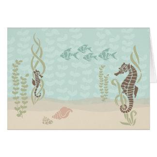 Seahorse Scene Notecard