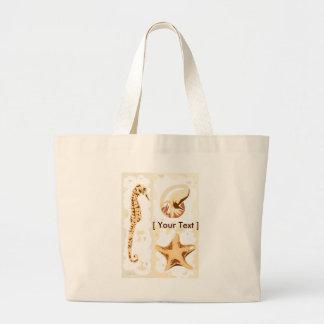 Seahorse Seashells Aquatic Life Tote Bag