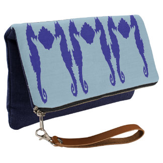 Seahorse & Shell Clutch