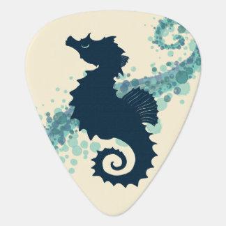 Seahorse Silhouette ~ Amber Marine Guitar Pick